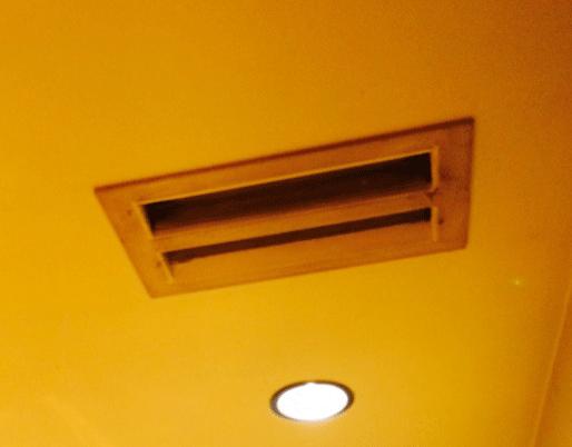 ビルトインエアコンの吹き出し口の例