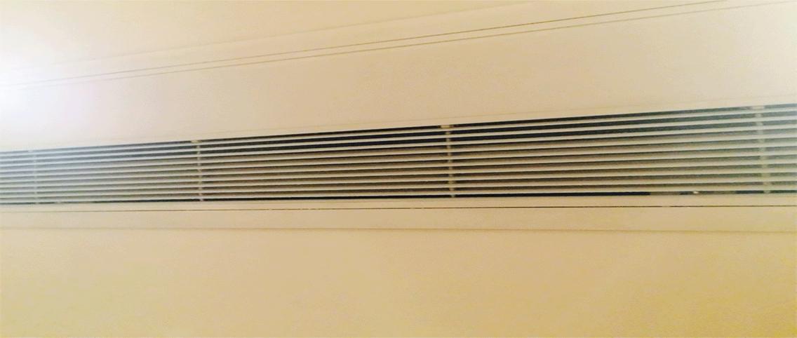 ビルトインエアコンの吸い込み口の例